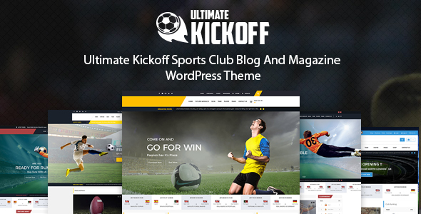 Ultimate Kickoff News Magazine WordPress Theme – Sports Club