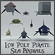 Low Poly Pirate Sea Animals