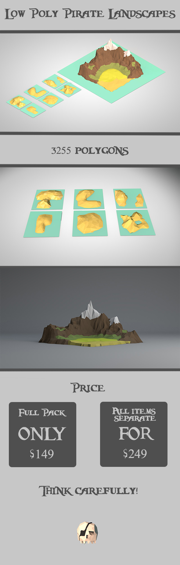 Low Poly Pirate Landscapes - 3DOcean Item for Sale