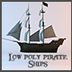 Low Poly Pirate Ships - 3DOcean Item for Sale