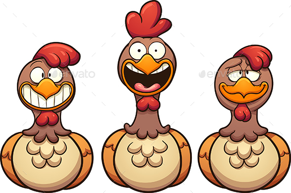 Cartoon Hens - Animals Characters