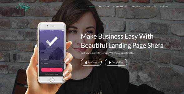 Shefa – Responsive App Landing Page