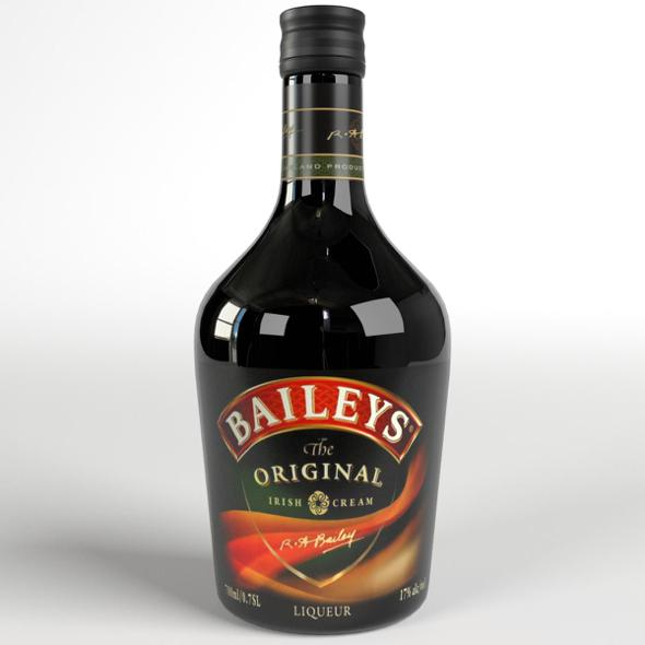 Baileys Irish Cream Whiskey Bottle - 3DOcean Item for Sale
