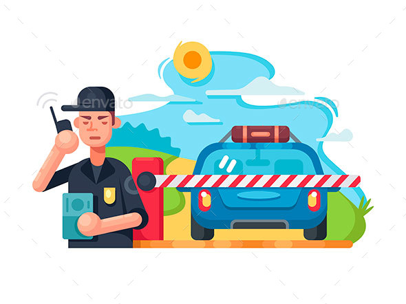 Traffic Police Checkpoint - People Characters