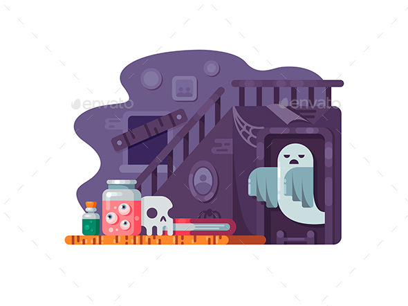 Haunted House Flat - Miscellaneous Vectors