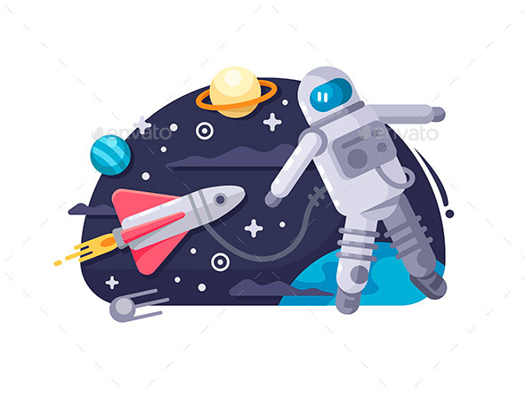 Astronaut in Outer Space - People Characters