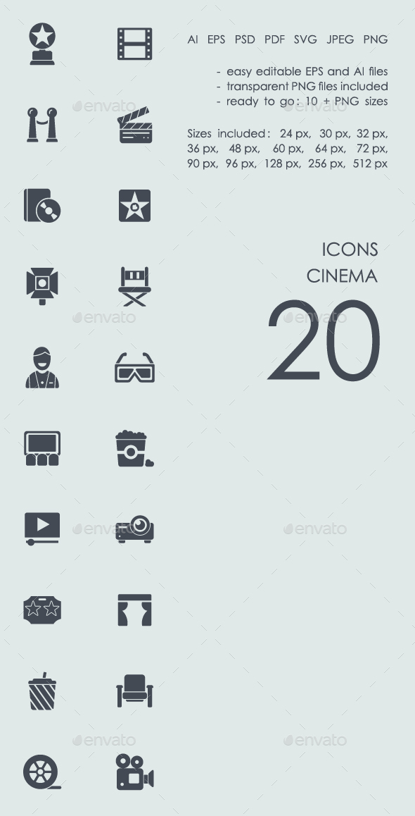 Cinema icons - Icons