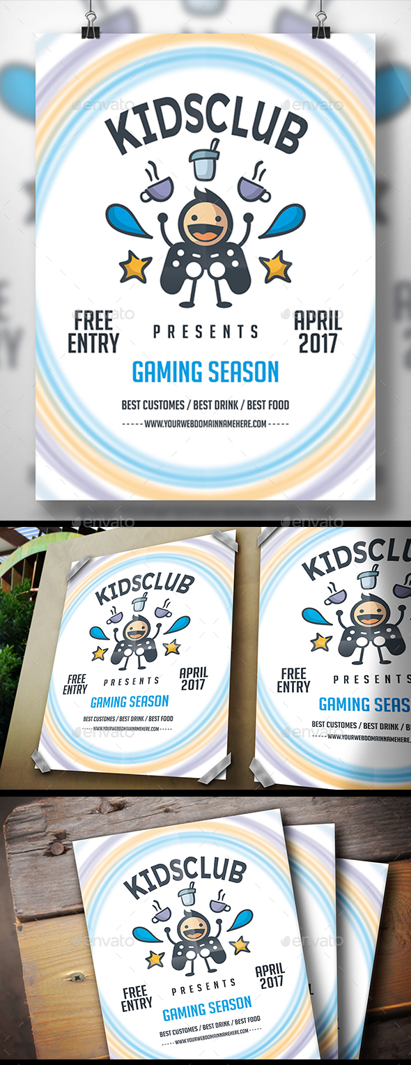 Geek Gaming Flyer - Clubs & Parties Events