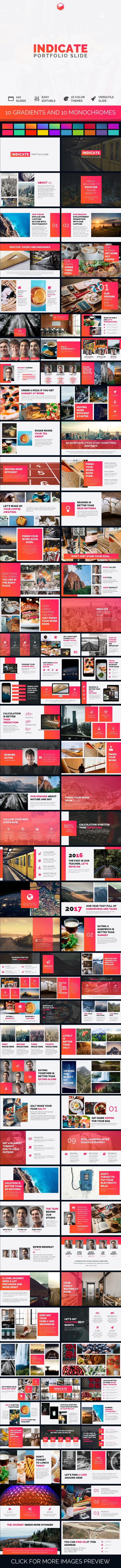 Indicate - Portfolio Slide - PowerPoint Templates Presentation Templates