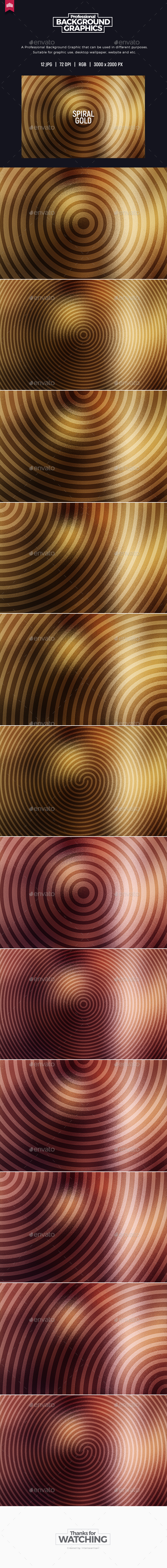 Spiral Gold - Background - Backgrounds Graphics
