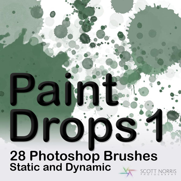 Paint Drops Photoshop Brush Pack - Artistic Brushes