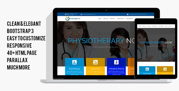 PhysiotherapyPro – Physiotherapy, Physiotherapist, Physiotherapy Clinic HTML Template