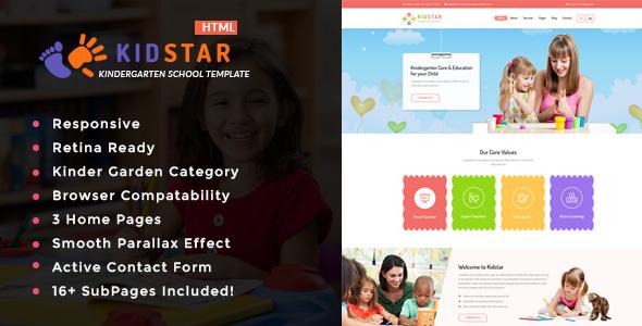 Kidstar – Kindergarten & School HTML Template