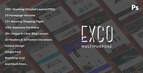 ExCo - Multi-Purpose PSD Template - Corporate PSD Templates