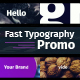 Fast Typography Promo - VideoHive Item for Sale