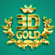 3D Gold Text Effect Photoshop Action - GraphicRiver Item for Sale