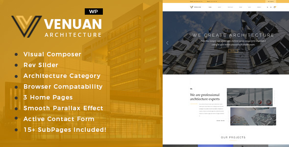 Venuan - Architecture Design WordPress Theme - Business Corporate