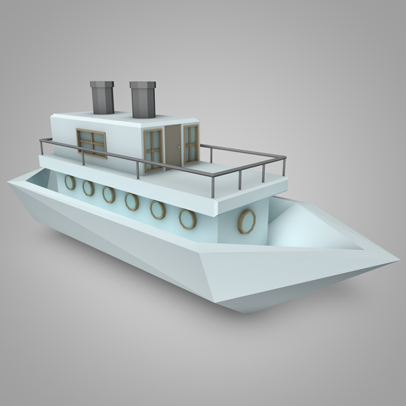 LowPoly Boat - 3DOcean Item for Sale