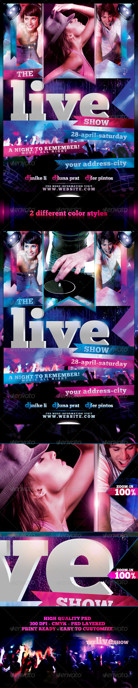 The Live Show Flyer Template - Flyers Print Templates