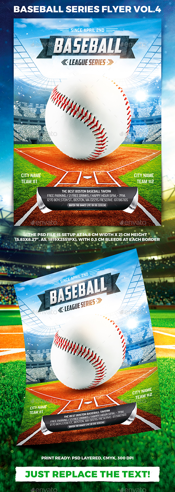 Baseball League Series Flyer vol.4 - Sports Events