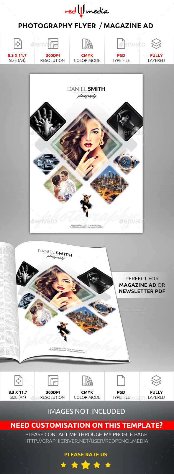 Photography Flyer / Magazine AD - Flyers Print Templates