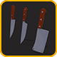 Low Poly Kitchen Knives Pack - 3DOcean Item for Sale