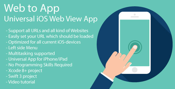 WebToApp | Universal iOS Web View App - CodeCanyon Item for Sale