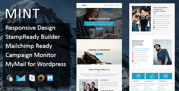 Mint - Multipurpose Responsive Email Template with Stamp Ready Builder Access - Email Templates Marketing