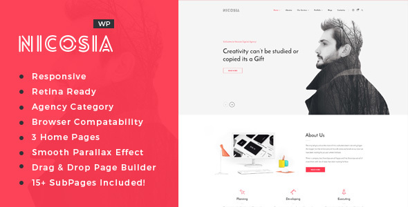 Nicosia - Online Marketing, SEO, Social Media Agency WordPress Theme