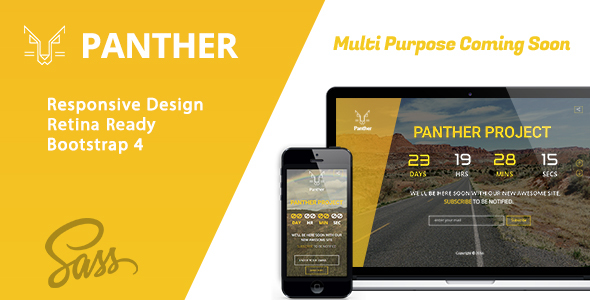 Panther Coming Soon HTML Template - Specialty Pages Site Templates