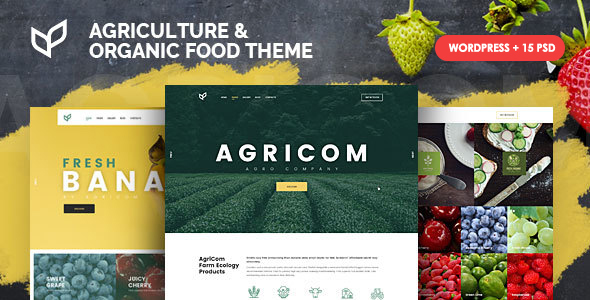 Agricom - Agriculture & Organic Food WordPress Theme Pack