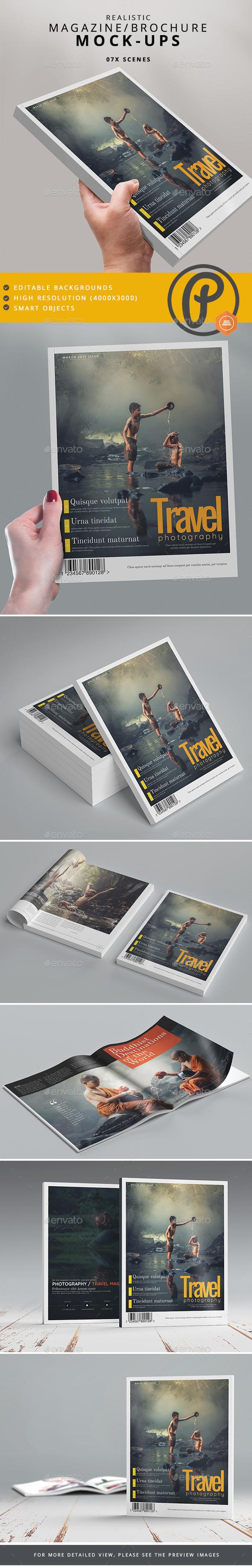 Magazine / Brochure Mock-Ups - Magazines Print