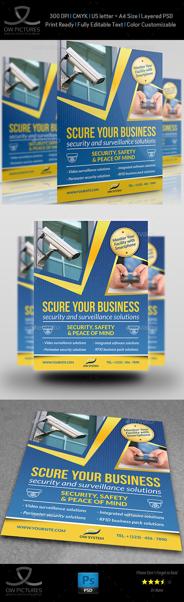 Security System Flyer Template Vol.2 - Corporate Flyers