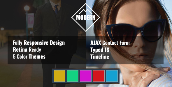 MODERN Resume HTML Template - Personal Site Templates