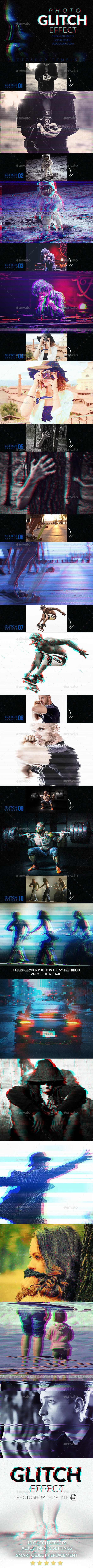 Glitch Effect Creator - Photo Templates Graphics