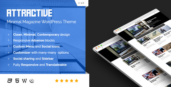 Attractive – Minimalist Magazine WordPress Theme