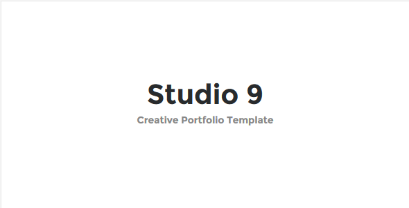 Studio 9 - Creative Portfolio Template