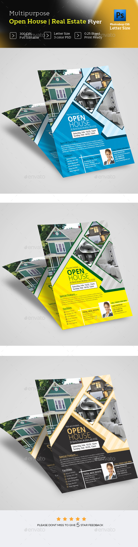 Open House Real Estate Flye - Commerce Flyers