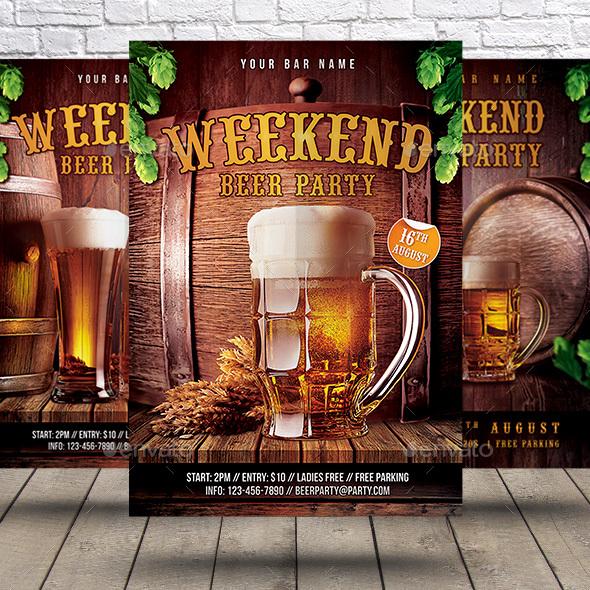 Beer Party Flyer Bundle - Clubs & Parties Events