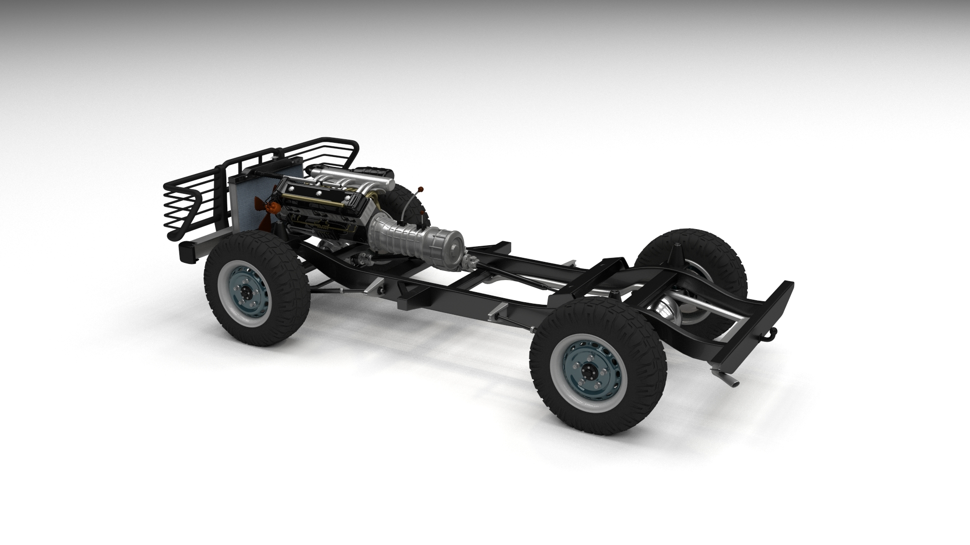 Full Land Rover Defender Pack W Chassis And Interior By