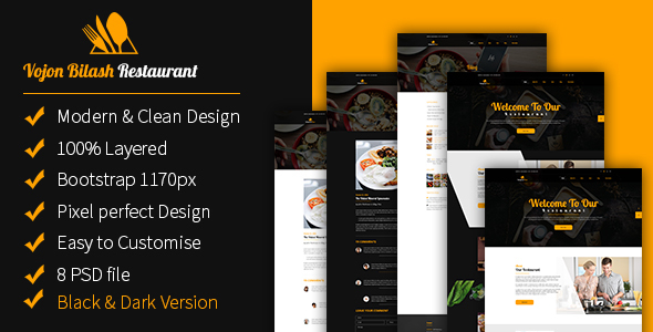 Vojon Bilash Restaurant Template