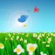Butterflies Grass Flowers - VideoHive Item for Sale