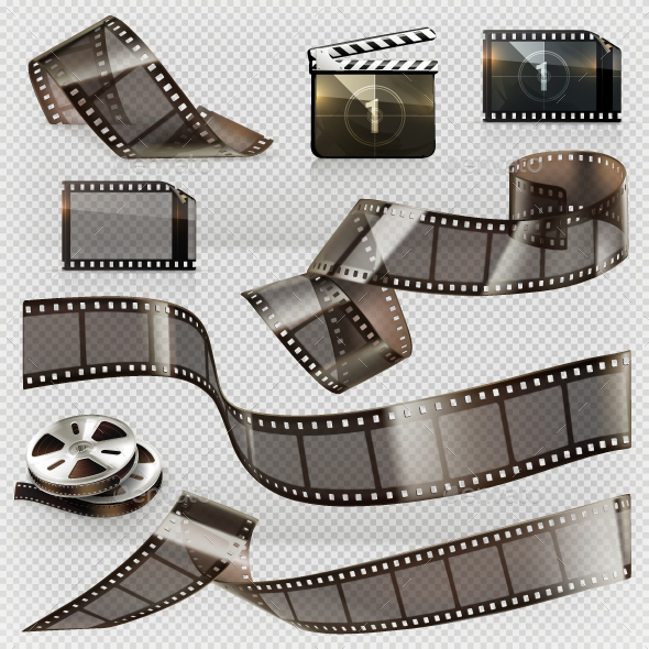 Old Film Strip with Transparency - Man-made Objects Objects