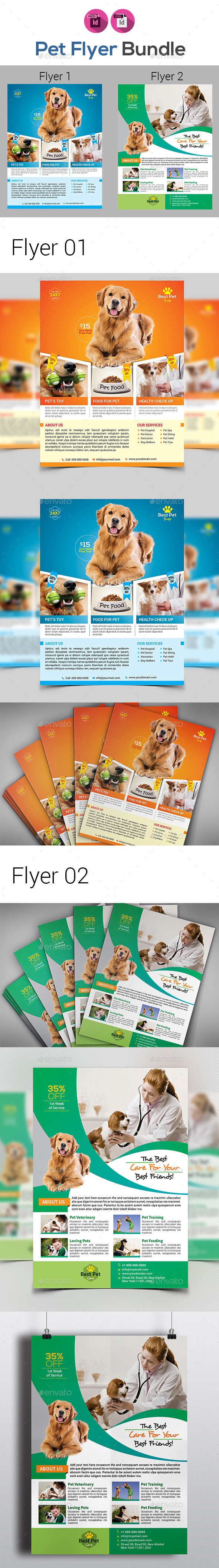 Pet Shop Flyers Bundle - Corporate Flyers