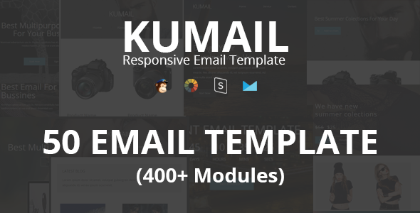 Kumail – 50 Email Template (400+ Modules) + Stampready Builder