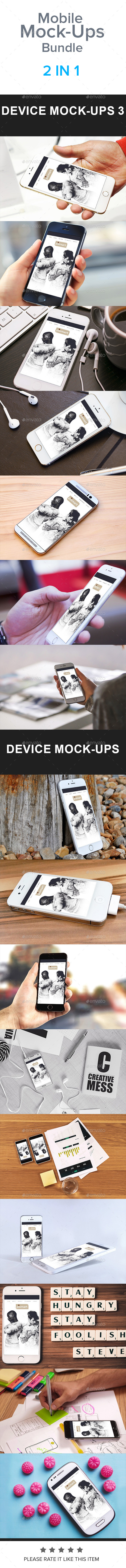 Mobile Mock-Ups Bundle - Mobile Displays