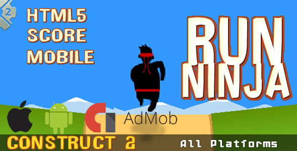 Run Ninja - HTML5 Game, Mobile Vesion+AdMob (.CAPX) - CodeCanyon Item for Sale