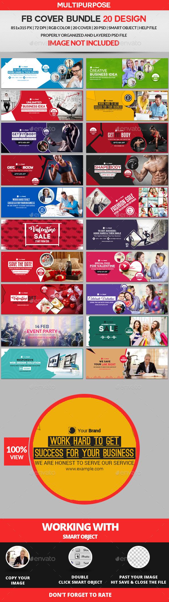 Facebook Cover Bundle Three - 20 Design - Facebook Timeline Covers Social Media