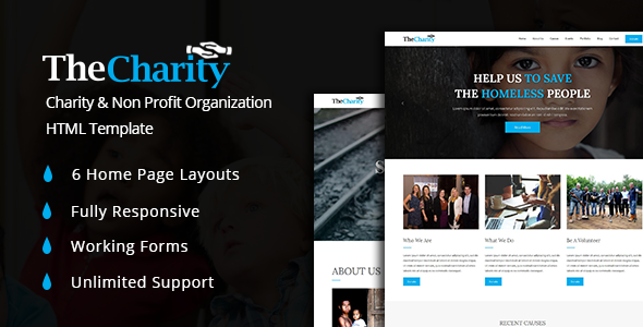 The Charity - Fundraising & Non Profit Organization HTML5 Template
