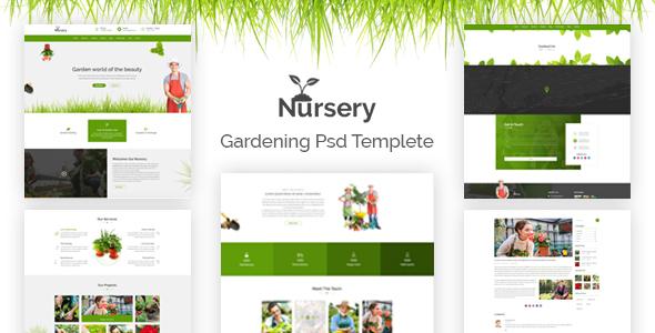 Nursery - Gardening PSD Template - Business Corporate